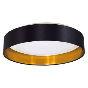 EEK A+, LED-Deckenleuchte Maserlo IV - Webstoff / Kunststoff - 1-flammig - Schwarz / Gold, Eglo