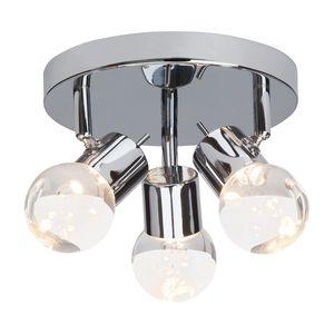 EEK A+, LED-Deckenleuchte Lastra 3-flammig - Silber Metall, verchromt, Brilliant