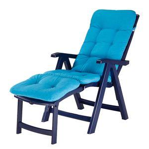 Deck-Chair Florida - Kunststoff/Webstoff - Blau/Türkis, Best Freizeitmöbel