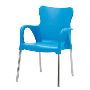 Gartenstuhl Maui Uni - Kunststoff / Aluminium - Hellblau, Best Freizeitmöbel