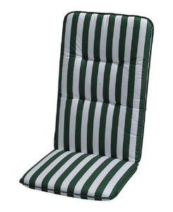 Auflage Basic Line - Grün-Weiß gestreift - Niederlehner - 100 x 50 cm, Best Freizeitmöbel