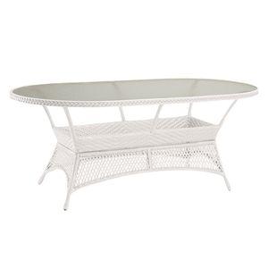 Gartentisch Madelene II - Polyrattan - Weiß, Best Freizeitmöbel