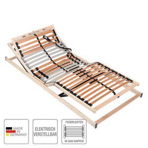 Lattenrost MEDISTAR DUO - elektrisch verstellbar - Buche / Hellbraun - 100 x 200cm, BeCo