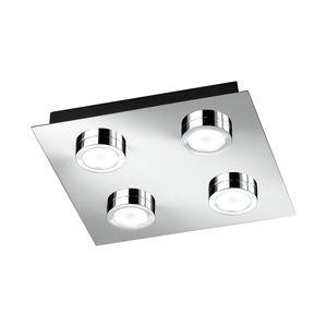 EEK A+, Deckenleuchte VENETA - Metall/Kunststoff - 4-flammig, Action