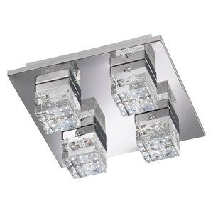 EEK A+, LED-Deckenleuchte Dora - Metall / Glas - 4-flammig, Wofi