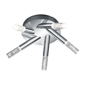 EEK A+, LED-Deckenleuchte Bolsa - Acrylglas / Metall- 5-flammig, Trio