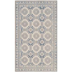 Teppich Persis - Mischgewebe - Beige / Dunkelblau - 121 x 182 cm, Safavieh
