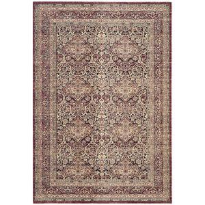 Teppich Orissa - Mischgewebe - Weinrot / Beige - 91 x 152 cm, Safavieh