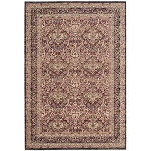 Teppich Orissa - Mischgewebe - Weinrot / Schwarz - 91 x 152 cm, Safavieh