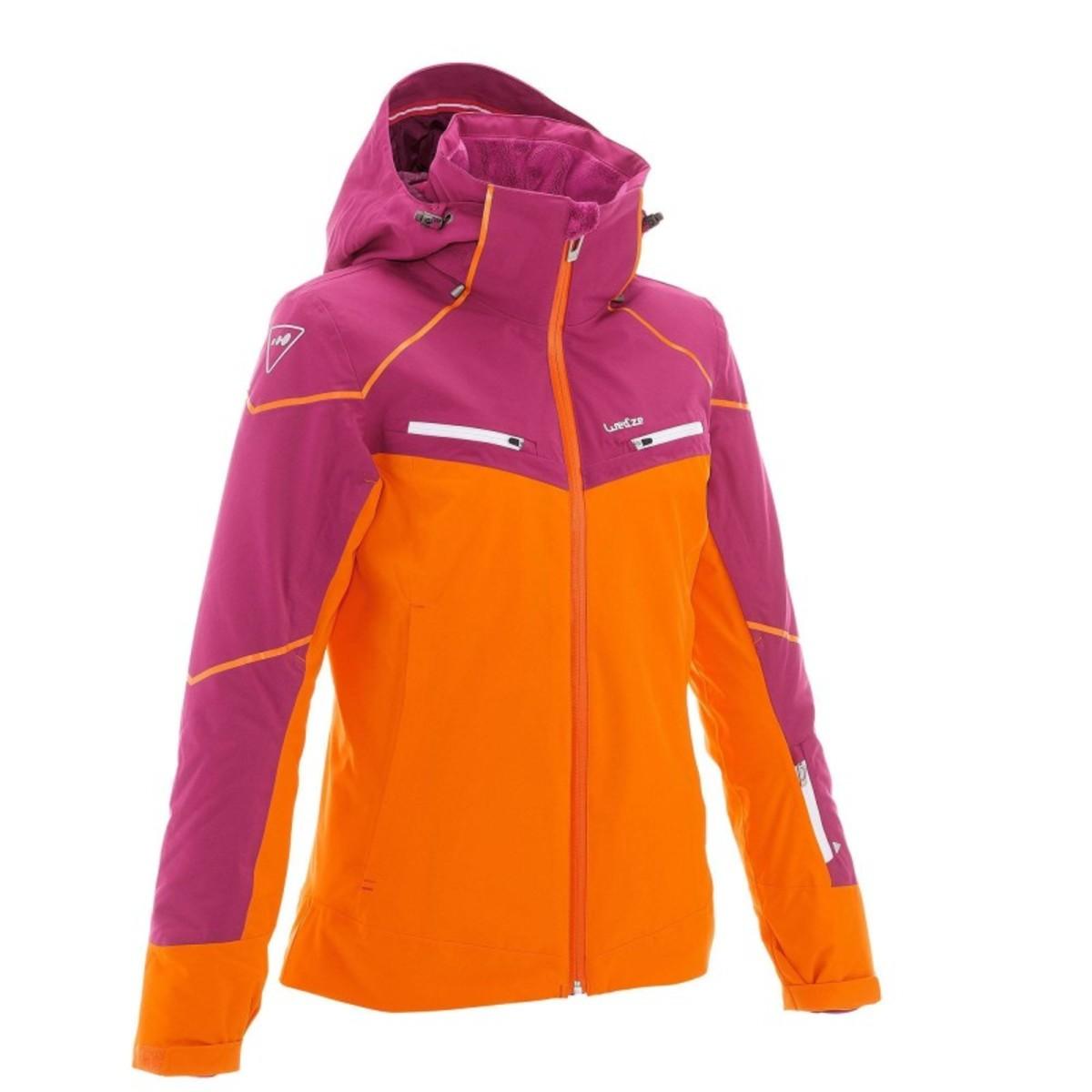 Bild 1 von WED´ZE Skijacke Slide 700 Damen lila/orange, Größe: XS