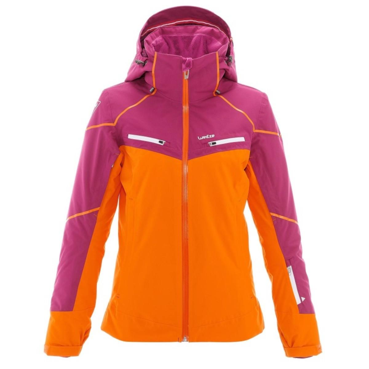 Bild 3 von WED´ZE Skijacke Slide 700 Damen lila/orange, Größe: XS