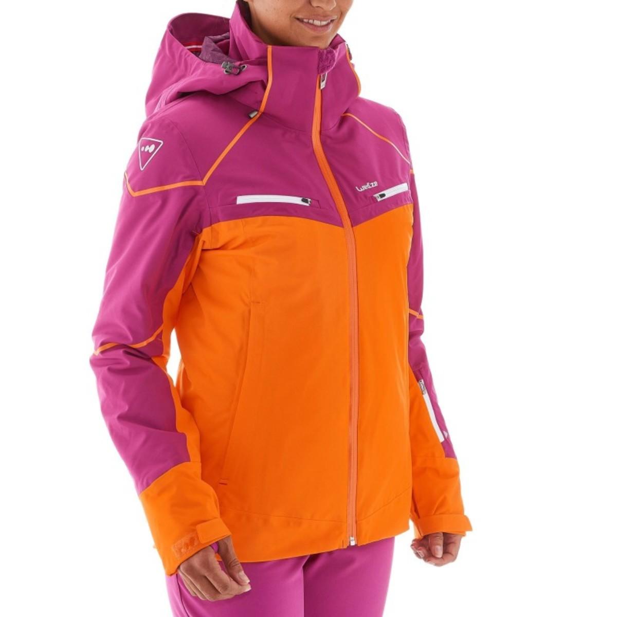 Bild 5 von WED´ZE Skijacke Slide 700 Damen lila/orange, Größe: XS