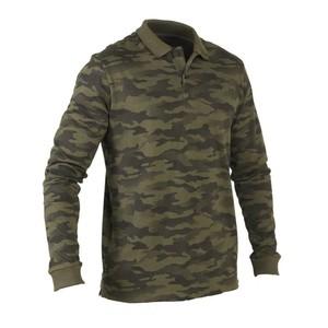 SOLOGNAC Langarm-Poloshirt 100 Jagd Camouflage, Größe: XL