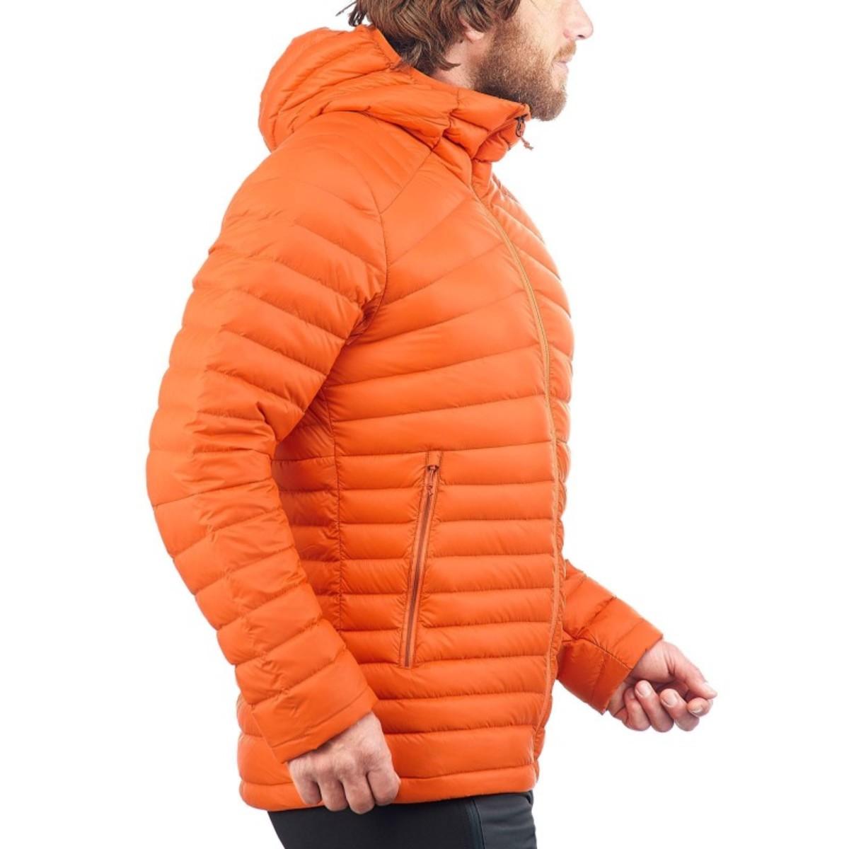 Bild 4 von QUECHUA Daunenjacke Full Down Herren orange, Größe: M