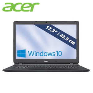 Acer Aspire ES 17 ES1-732-P6LA • HD+-Display mit LED-Backlight • Intel® Pentium® Prozessor N4200 (bis zu 2, 5 GHz) • Intel® HD Graphics 505 • USB 2.0, USB 3.0 • DVD-Laufwerk, Webcam
