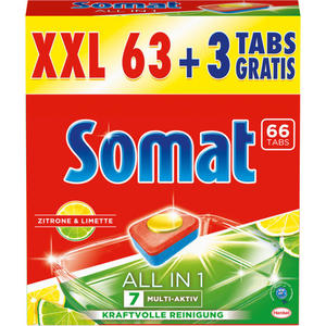Somat Tabs 7 All in 1 Zitrone & Limette 7.39 EUR/1 kg