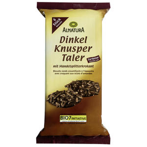Alnatura Bio Dinkel Knusper Taler Zartbitter 2.29 EUR/100 g