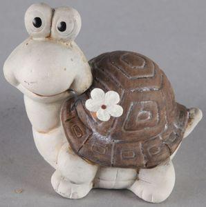 Schildkröte - aus Keramik - 10,5 x 7,5 x 9 cm