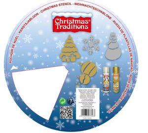 Weihnachtsschablonenrad mit 4 Motiven, 25 cm