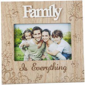 Bilderrahmen - für 1 Foto à 15x10 cm - Family - aus Holz - 20x1x20 cm