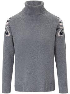 Rollkragen-Pullover aus 100% Kaschmir Laura Biagiotti Donna grau