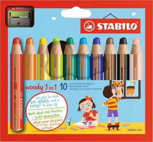 STABILO Multitalent-Stifte woody 3 in 1 10er