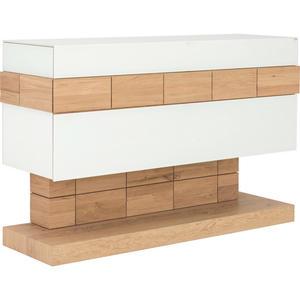 VOGLAUER SIDEBOARD Wildeiche massiv, mehrschichtige Massivholzplatte (Tischlerplatte) geölt Weiß