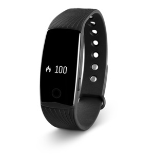 MEDION LIFE E1000 Fitnessarmband, OLED Display, flexibles Armband, Schrittzähler, Kalorienverbrauchsmesser, Schlafüberwachung, schwarz
