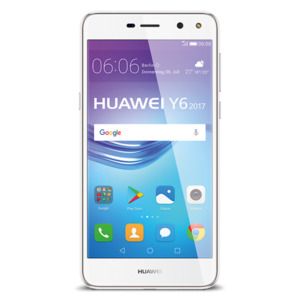 Huawei Huawei Y6 (2017) Smartphone, 12.7 cm (5,0') HD-Display, Android 6.0, 16 GB Speicher, Quad-Core-Prozessor, weiß
