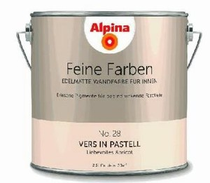 Alpina Feine Farbe No. 28 ,  Liebevolles Apricot, Vers in Pastell, 2,5 l