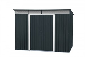 Tepro Metallgerätehaus Pent Roof Skylight 8x6 ,  Außenmaße (BxTxH): 263,5 x 184,5 x 202 cm