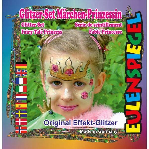 Eulenspiegel Glitter Motiv-Set Märchen-Prinzessin