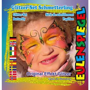 Eulenspiegel Glitter Motiv-Set Schmetterling