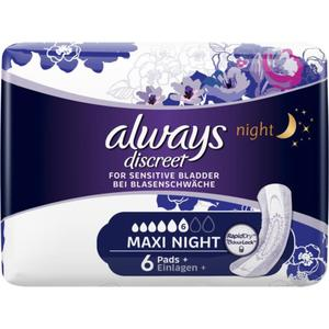 Always discreet Einlagen maxi night
