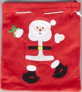 Filzsäckchen - Weihnachtsmann - 23x25 cm - 1 Stück
