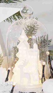 LED Dekoglocke - Rentier - ca. 8,5 x 8,5 x 16,5 cm