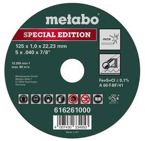 Trennscheiben Inox Special Edition 125 mm, 25 Stück Metabo