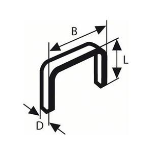 Bosch Flachdrahtklammern Typ 52 6 mm (VE 1.000 St.)