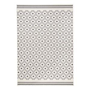 Teppich Cubic - Kunstfaser - Grau / Creme - 140 x 200 cm, Zala Living