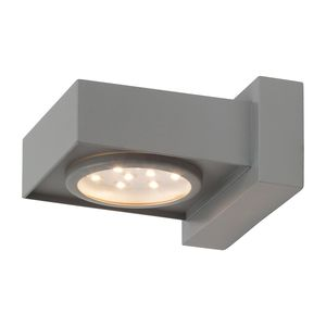 EEK A+, LED-Außenwandleuchte Warren 1-flammig - Silber Aluminium, Brilliant