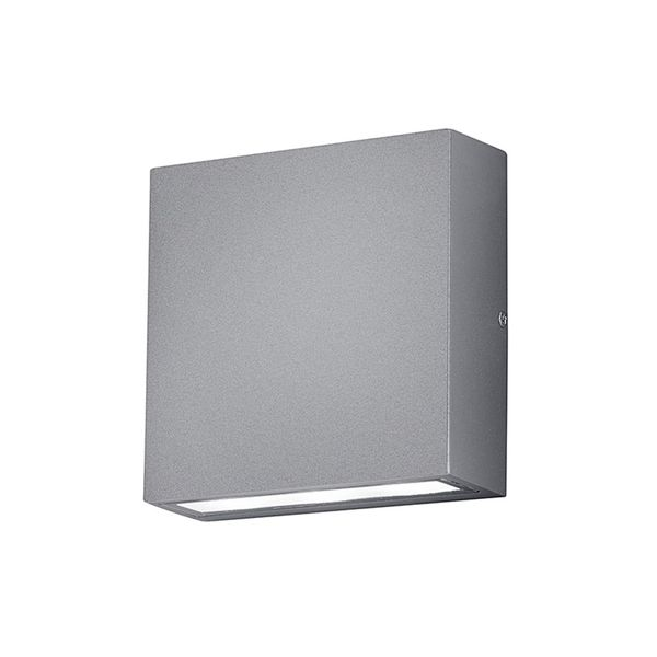 EEK A+, LED-Außenleuchte Thames - Aluminium / Kunststoff - Silber - 2-flammig, Trio