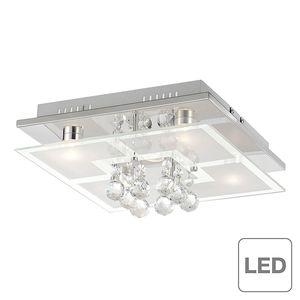 EEK A++, LED-Deckenleuchte Chiron - Chrom/Glas - Silber, Paul Neuhaus