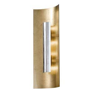 EEK A, Wandleuchte Aura Gold - Metall / Glas - Gold / Silber - 3-flammig, Hans Kögl