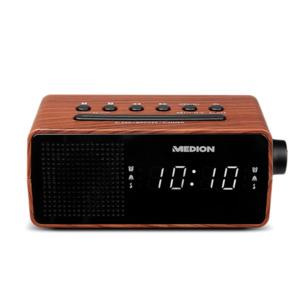 MEDION LIFE E66403 PLL Uhrenradio, LED Display mit weißen Ziffern, Wecken durch Radio oder Alarmton