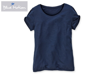 Blue Motion Shirt, Slub-Garn