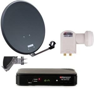 Opticum Sat Komplettset 60150A HDTV-Empfangsanlage anthrazit