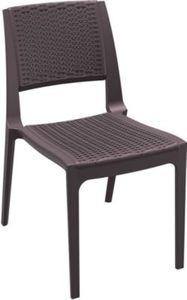 CLP XXL- Polyrattan-Gartenstuhl VERONA Pflegeleichter Outdoor-Stapelstuhl Wetterbeständiger Gartenstuhl In verschiedenen Farben erhältlich