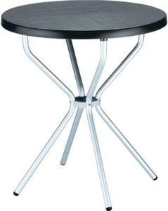 hochwertiger Aluminium Gartentisch ELFO Durchmesser Ø 70 cm, Höhe 72 cm,, ideal für den Balkon & Terrasse