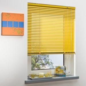 Liedeco Jalousie aus Aluminium Sonnen-Gelb, Jalousie für Fenster und Tür