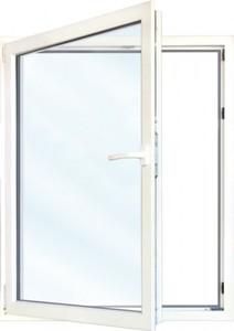 Meeth Fenster Weiß 900 x 1100 mm DL ,  System 70/3S Euronorm, 1-flg Dreh-Kipp